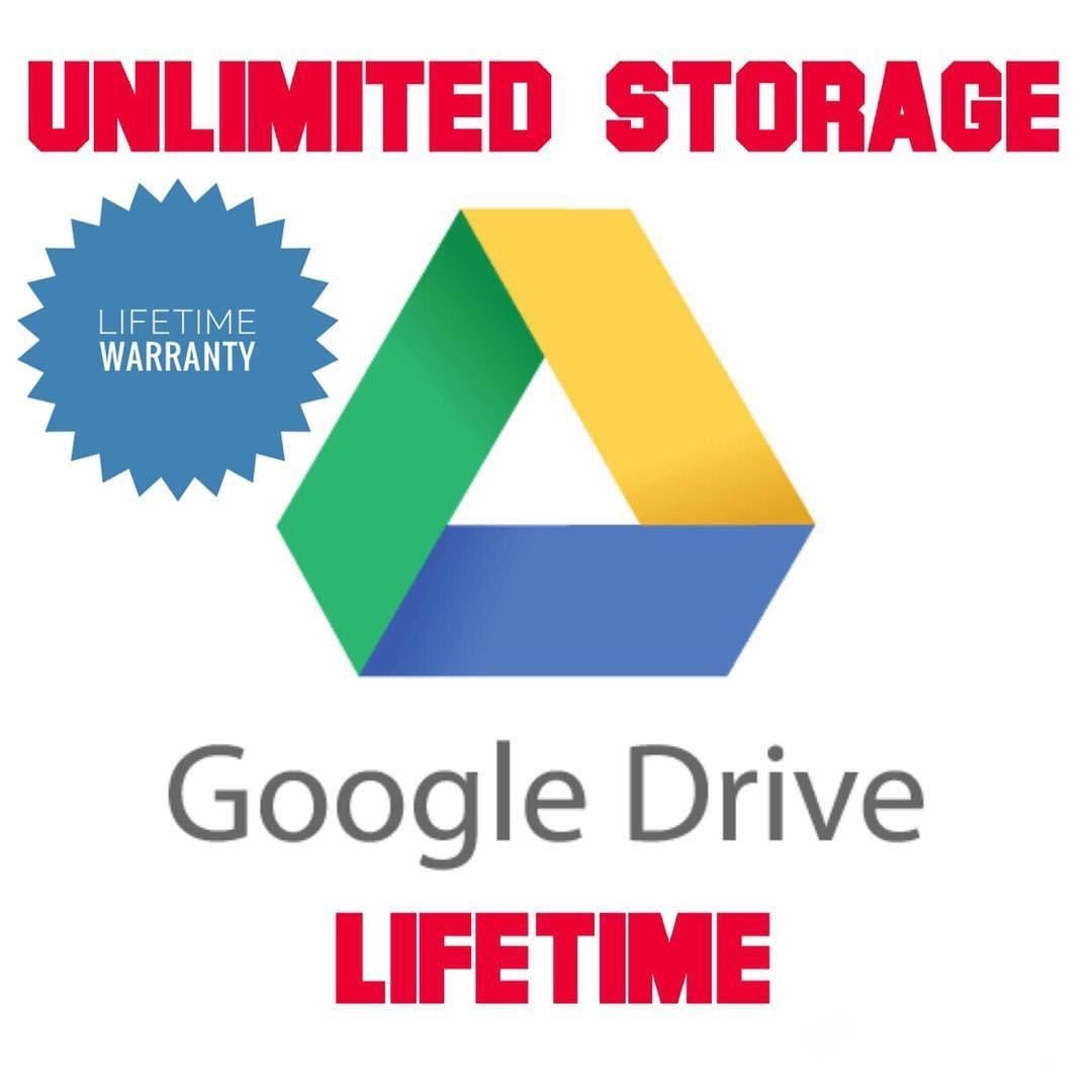 Google Drive Account With Lifetime Unlimited Storage (Account Creation)